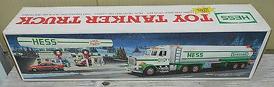 1990 Hess Toy Tanker Truck New In Box Real Lights Horn Back-Up Alert Holiday Tra
