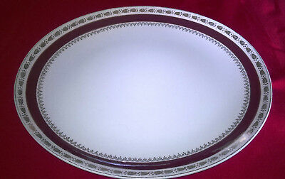 "Pottery Crown Ducal AGR "" Warwick "" Oval Serving Plate Charger 32.5 cm"