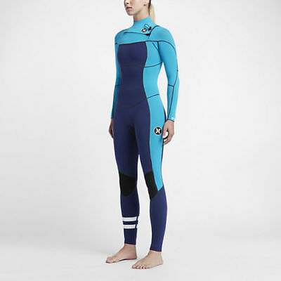 Hurley Phantom 202 Fullsuit Wetsuit Loyal Blue New Womens Size 4 GFS0000110  4EU