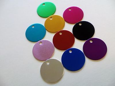 Dog Tags 25mm Round Shaped Disc Pet Tag Puppy Cat Aluminium Dog Tags