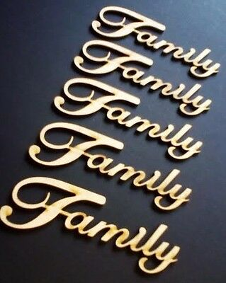 Wooden Family Word Cutout  MDF Laser Cut Craft Blank Wedding Family Tree