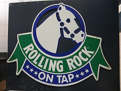 Smaller Rolling Rock Tin Sign