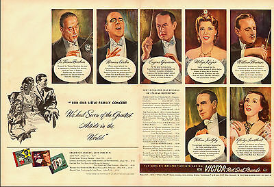 1944 vintage AD, RCA Victor Red Seal Records, Opera Star Gladys Swarthout 032014