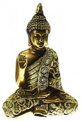 Juliana Bronze Thai Buddha Figurine - Right Hand Up 24cm