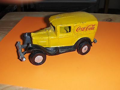Heavy Cast Iron Panel Truck Toy Coca-cola, Repro