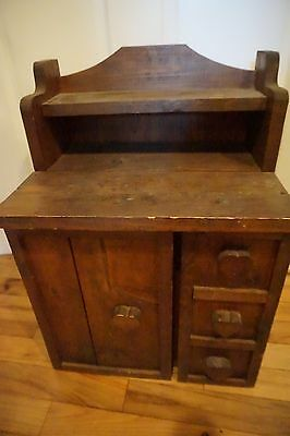 Vintage Primitive Child Or Small Cupboard