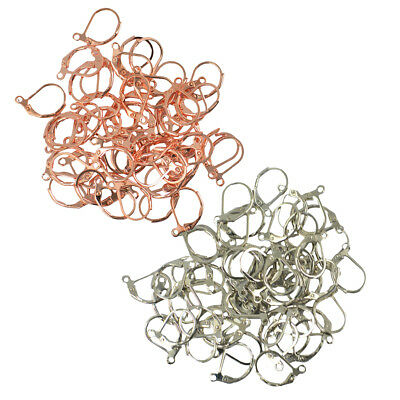 100pcs French Hooks Ear Wire Connector Lever Back Earrings Finding Wholesale