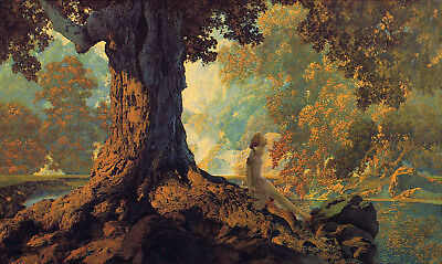 Dreaming  by Maxfield Parrish   Giclee Canvas Print Repro