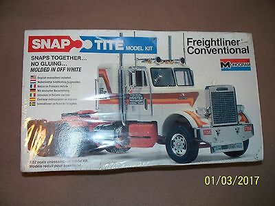 Monogram 1/32 Freightliner conventional snap-tite kit, factory sealed!!!! BIN ad