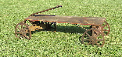vintage or antique wooden child's toy wagon - nice