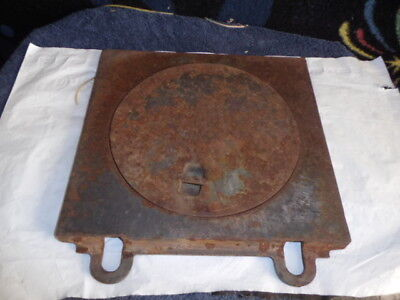 Antique Or Vintage Cast Iron Stove Top Cover  Kitchen Heater ,843-2