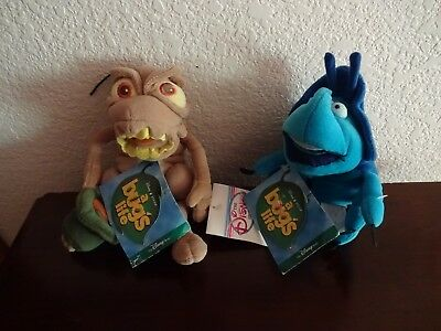 Lot Of 2 New Disney A Bugs Life Beans-P.t. Flea And Dim The Rhino Beetle