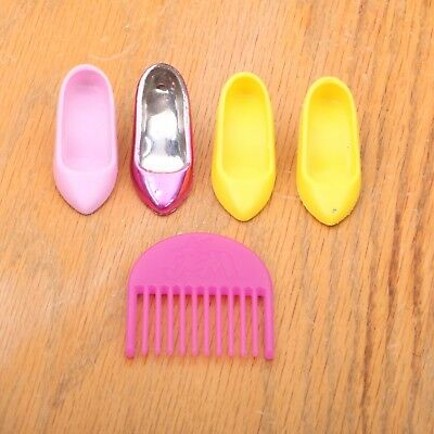 Vintage Hasbro Jem And The Holograms Doll Accessory Lot 4 Shoes 1 Comb