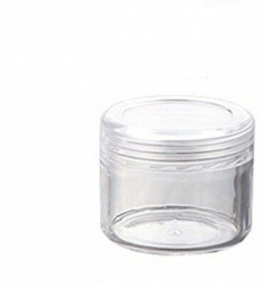 Pack Of 12 Plastic Clear Empty 20g 20ml Cosmetic Containers Jars Makeup Cream