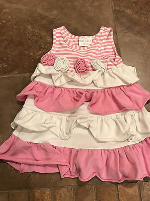 Baby girl Iris & Ivy pink and white dress size 18 months