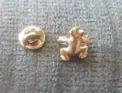 "FROG Gold Toned Lapel Hat Pin 5/8"" long & wide"