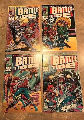 Battle Tide # 1 2 3 4 Complete Set (1992, Marvel UK) Wolverine VF/NM