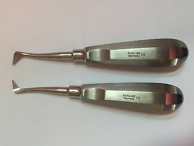 Dental Surgical Root Elevators tooth extracting Pair Left and Right St.Steel CE