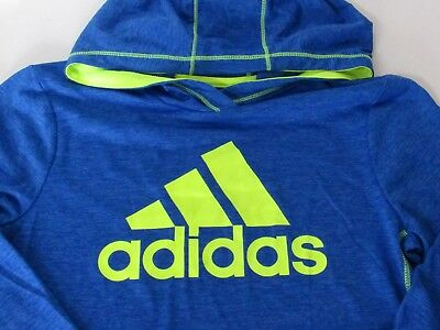Adidas Boys ClimaLite Logo Screen Print Pullover Hoodie Jacket size L