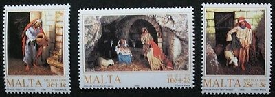 Christmas stamps, innkeeper, nativity 1990 Malta, SG ref: 884-886, 3 stamps, MNH