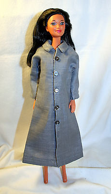 Handmade 11.5 Inch Female Fashion Doll Clothes Coat Style 3 Light Gray Linen