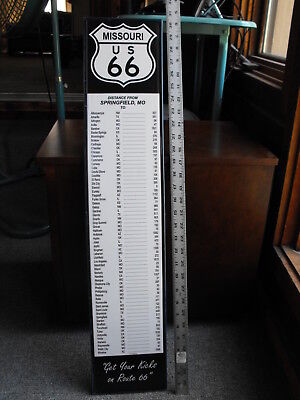 Distance Mileage Sign Route 66 Springfield Missouri MO Great Gift