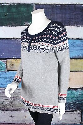Urban Day Small Medium S/M Gray Blue Fair Isle Boho Sweater Tunic The Buckle