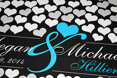 205 Guests Sign Unique Wedding Guestbook Engagement BRIDAL GIFT POSTER 20x30_11