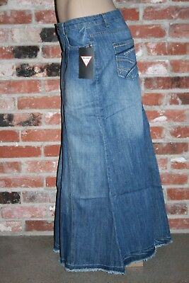 NEW~Be-Girl LONG Blue DENIM Jean SKIRT Full~XS~S~M~L~XL~NWT~100% cotton~ CUTE!!