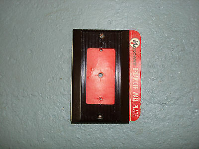 Vintage Uniline Brown Decora GFCI Switch Outlet Cover Plate Monowatt Ribbed