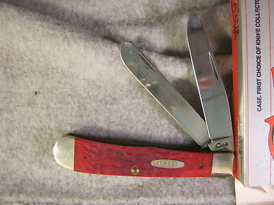 Case Trapper Red Bone 6254 Ss 1980's Vintage New Old Stock