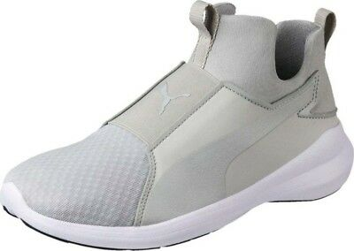PUMA REBEL MID Trainers Sneakers Women Shoes Grey Violet