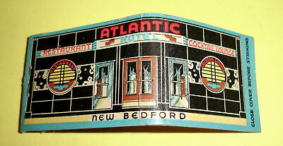 Vintage 1930's New Bedford Art Deco Cocktail Lounge Full Feature Matchbook