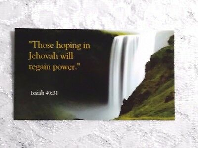 Set of 10 2018 Year Text Refrigerator Magnets in English  JW.ORG Isaiah 40:31