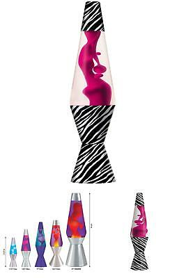 Lava Lite 2421 14.5-Inch Zebra Lava Lamp, Hot Pink Wax/Clear Liquid
