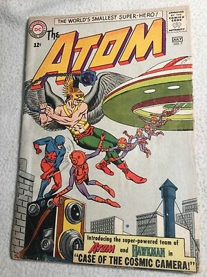 The Atom # 7  DC Comic Book 1st Hawkman Crossover Team-Up Issue KEY GD