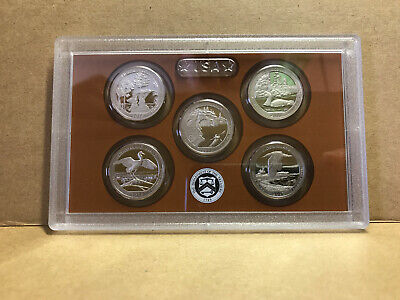 2018-S Proof Quarters America Beautiful Park ATB 5 Clad Coins 25¢ No BOX / COA