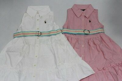 Brand New  Authentic Ralph Lauren Girls Dress With Belt Size 2T.3T.4T