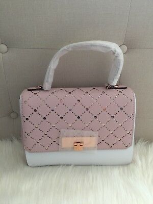 908c620b8f2b0e NWT Michael Kors Callie MD TH Perforated Leather Satchel/Shoulder Bag Pink