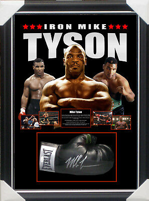 MIKE TYSON SIGNED FRAMED BOXING GLOVE - JSA SPENCE Authenticated The Real Deal