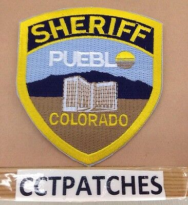 Pueblo County, Colorado Sheriff Police Shoulder Patch Co 2