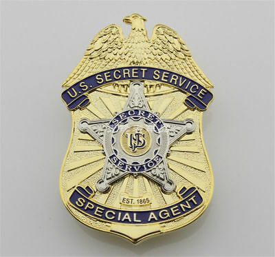 US Secret Service Badge Cos Special Agent Obsole Metal Badges Brooch Collectible