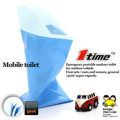 4Pcs Disposable Urine Bag, Portable Camping Trips Emergency Mobile Toilet