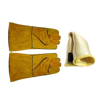 Welding Gloves and Glass Fiber Finger Heat Protect For TIG Welding Glove