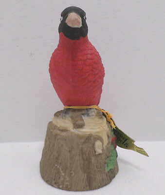 Jasco Bisque Bell Red Robin Bird made in Taiwan