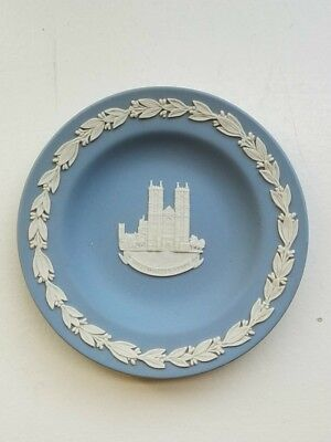 "Wedgwood Jasperware small plate ''Westminster Abbey'' Made in England 4.5"" Diam."