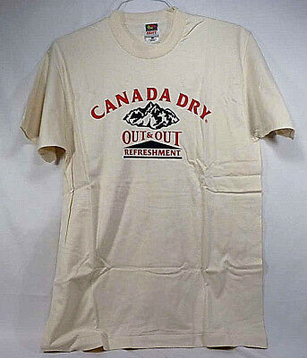 Vintage Canada Dry Out and Out Refreshment T-Shirt - NOS - Adult Large