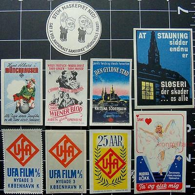 Denmark DNSAP/NSDAP issued poster stamps,1937-1943,WW2 Danish Nazi Party/Germany