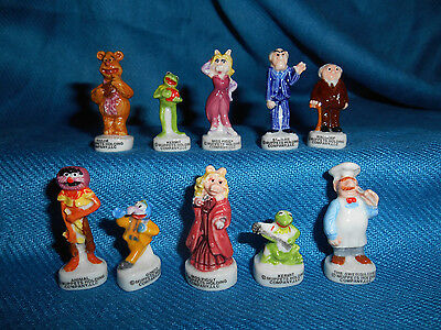 MUPPETS Set of 10 Mini Figurines French Porcelain FEVES Figures Kermit Ms Piggy