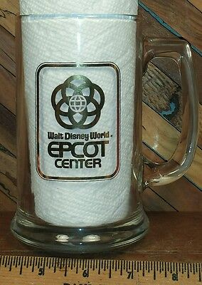 Walt Disney World EPCOT CENTER Vintage heavy glass beer stein mug